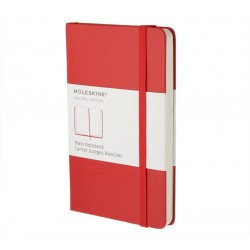 MOLESKINE PLAIN NOTEBOOK RED