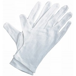 ART ALTERNATIVES SOFT WHITE COTTON GLOVES PACK OF 4