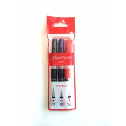 SET 3 PINCELES RECARGABLES CARAN D'ACHE (LARGE-MEDIUM-FIBRE)