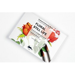 PEPIN POSTCARD COLOURING BOOK FLORAL STILL LIFE