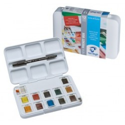VAN GOGH POCKET BOX ORIGINAL WATER COLOUR 12 PANS+3