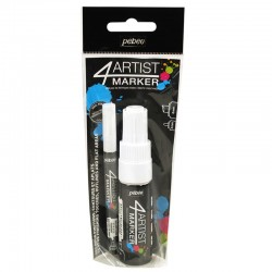 PEBEO SET DUO 4 ARTIST MARKER 2MM Y 8MM OIL BASE BLANCOS