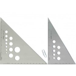 CALIBRATED ALUMINUM TRIANGLE, DIMENSIONES 45/90