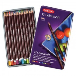DERWENT COLOURSOFT 12 LAPICES DE COLORES SUAVES