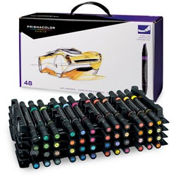 PRISMACOLOR PREMIER ART MARKERS WITH CASE-48/SET