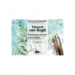 PEPIN POSTCARD COLOURING BOOK VICENT VAN GOGH