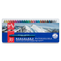 NEOCOLOR II, METAL BOX PASTELS ASSORTED - 30 PASTELS