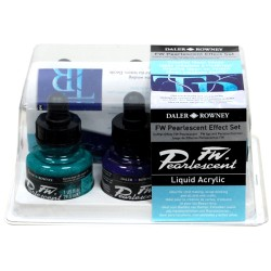 DALER ROWNEY ACRYLIQUE FW PEARLESCENT EFFECT SET 6