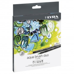 LYRA AQUA BRUSH DUO 12 PCS