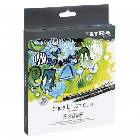 LYRA AQUA BRUSH DUO 24 PCS