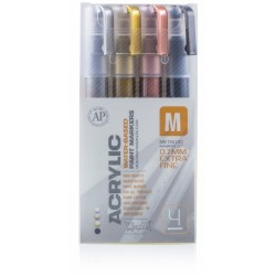 MONTANA MARKER SET METALICO 0.7MM 4 UNIDADES