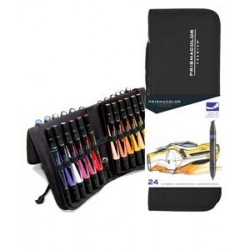 PRISMACOLOR PREMIER ART MARKERS WITH CASE-24/SET