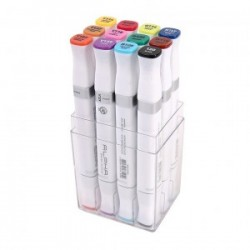 ALPHA BRUSH MARKER 12 COLOR A SET
