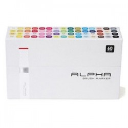 ALPHA BRUSH MARKER 60 COLOR SET