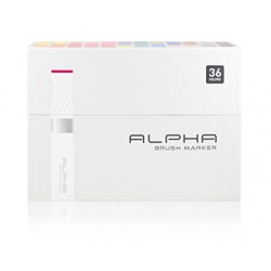 ALPHA BRUSH MARKER 36 COLOR SET