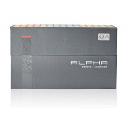 ALPHA DESIGN MARKER 60 COLOR A SET