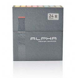 ALPHA DESIGN MARKER 24 COLOR R SET(REGULAR)
