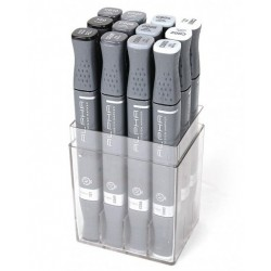 ALPHA DESIGN MARKER WARM GRAY 12 COLOR SET