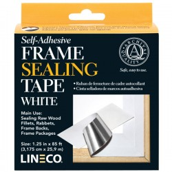 FRAME SEALING TAPE, SELF ADHESIVE, WHITE 11/4 X 1000 LINECO