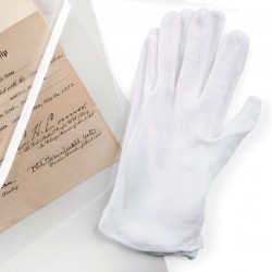 WHITE COTTON GLOVES LARGE 2