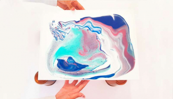 Tutorial Arte Fluido con Pouring Medium de Golden